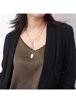 Alloy Multilayer Necklace