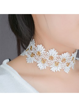 Lace Flower choker For Women