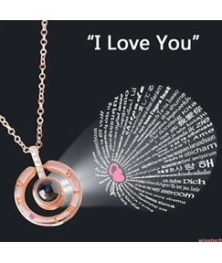 Saying I Love You Necklace For Women