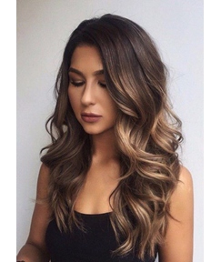 Fashion Long Loose Wave Layered Synthetic Hair Capless Wigs for Women 26 Inches