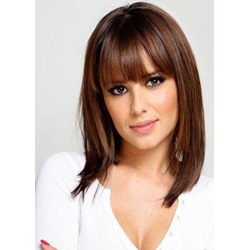 Classical Bob Top Quality Natural Straight Medium Synthetic Hair Capless Wigs 16Inches