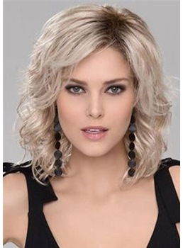 Fashion Medium-Length Big Curly Layered Synthetic Hair Capless Wig 14 Inches