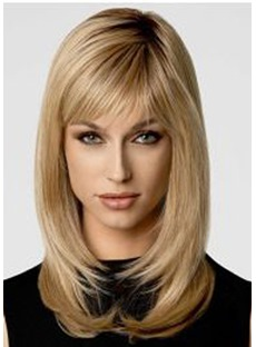 Classical Bob Top Quality Natural Straight Medium Synthetic Hair Capless Wigs 14 Inches