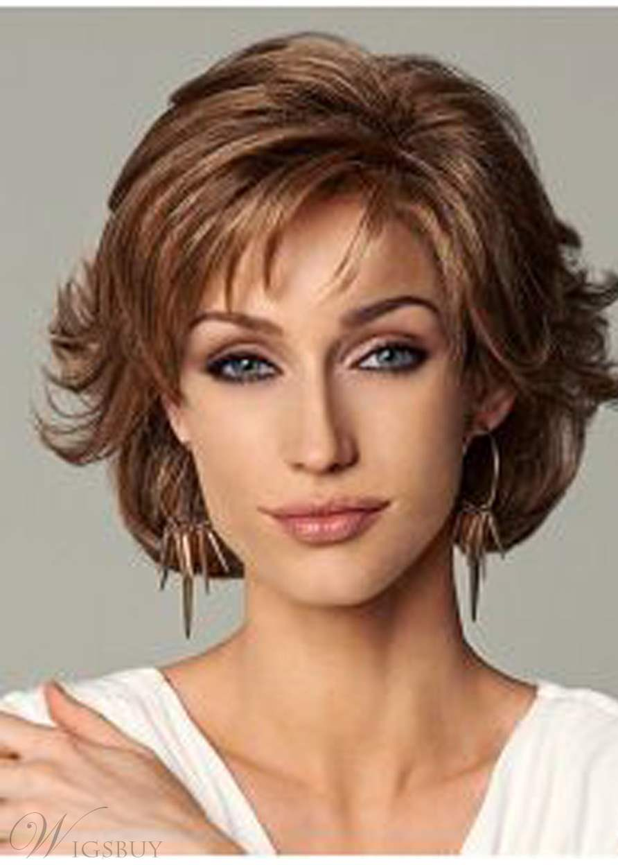 Layered Short Loose Wave Synthetic Hair Capless Wigs 12 Inches