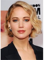 Jennifer Lawrence Hairstyle Wavy Synthetic Hair Wig 12 Inches
