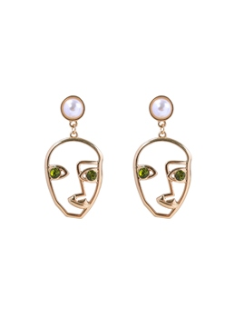 Face Hollow Out Earrings