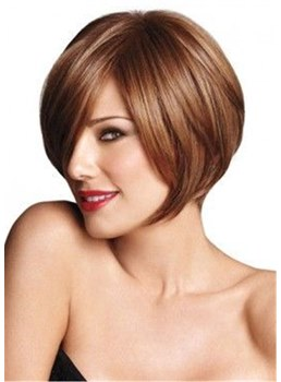 Short Bob Synthetic HairNatural Straight Lace Front Cap
