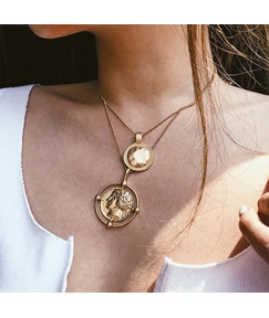 Alloy Plate Necklace