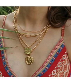 Multilayer Plate Necklace