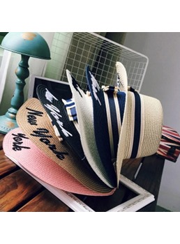 Letter Straw Hat ForWomen