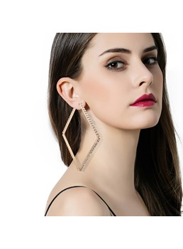 Square Hollow Out Diamnte Earrings
