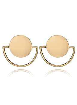 Alloy Simple Hollow Out Earrings