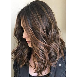Fashionable Women Long Wavy Synthetic Capless Wigs 22 Inches
