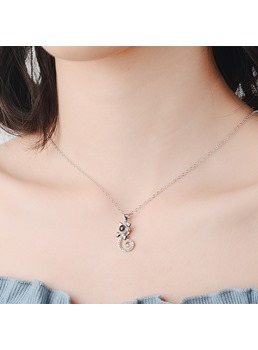 100 Language Love You Cat Necklace