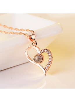 Heart Shape Diamnte Necklace