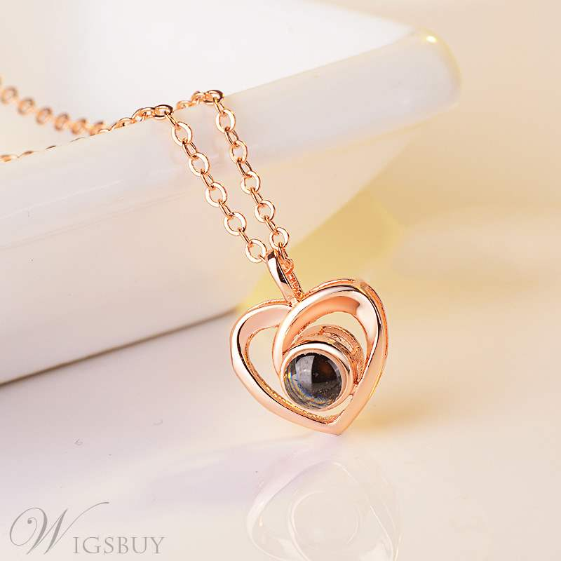 Rose Heart Shape Necklace