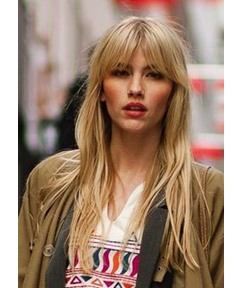 Long-Length Natural Straight 100% Human Hair Capless Wigs 24 Inches