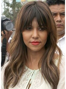 Attractive Long Length Natural Straight 100% Human Hair Capless Wigs 20 Inches