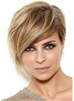Short Straight Lob Synthetic Hair Straight Wig 10 Inches