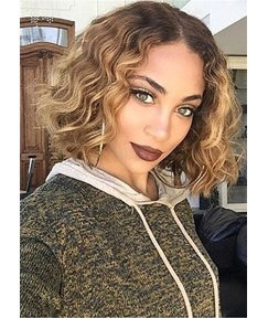 Bob Hairstyle Short Curly Synthetic Hair Capless African American Women Wigs 10 Inches
