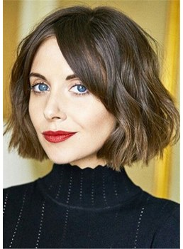 Short Bob Hairstyles Synthetic Hair Wavy Capless Wig 12 Inches