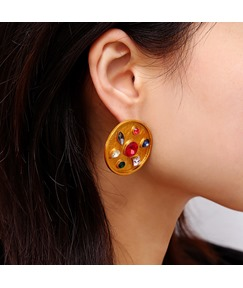 Golden Gems Earrings For Women