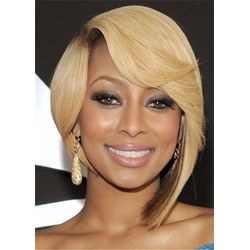 Chic Short Bob Hairstyle Side Parted Synthetic Straight Hair Wig