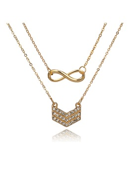 Bowknot Golden Necklace For Women