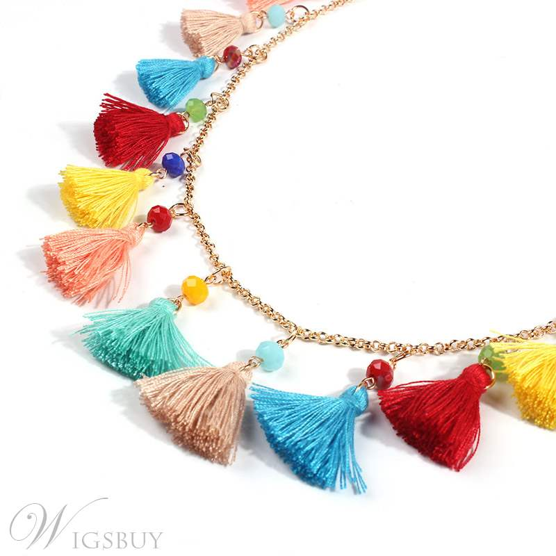 Coulour Tassel Necklace