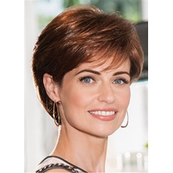 Cheap and Short Layered Curly Lace Front Synthetic Hair Wigs 10 Inches