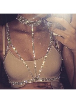 Diamante Shining Body Chain Necklace