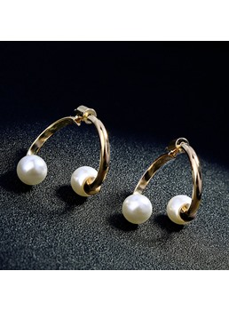 Pearl Alloy Simple Earrings