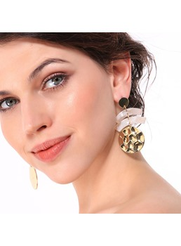 Ring Resin Drop Earrings