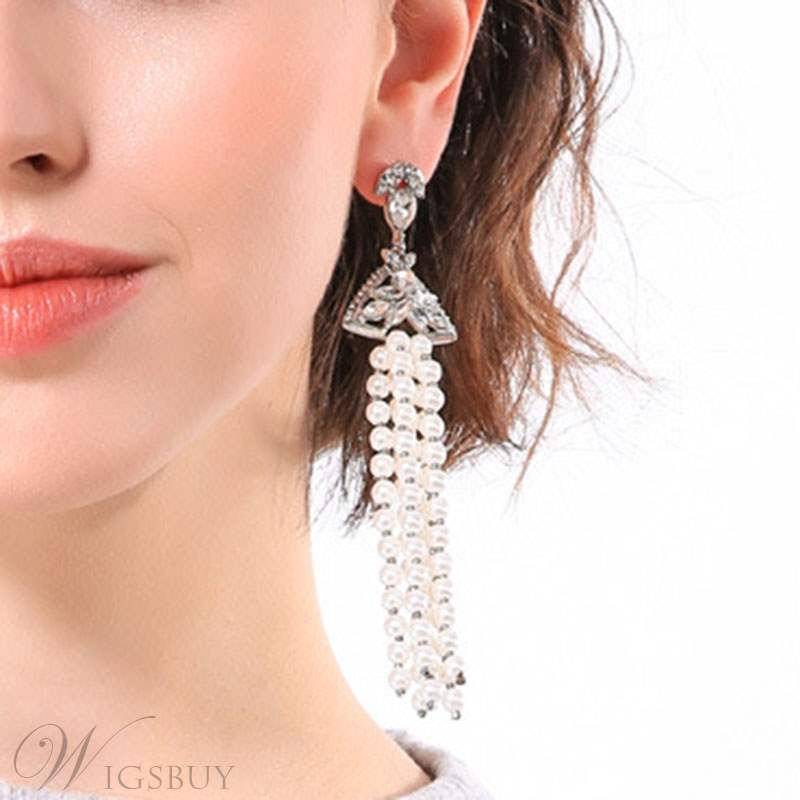 Pearl Tassels Earrings