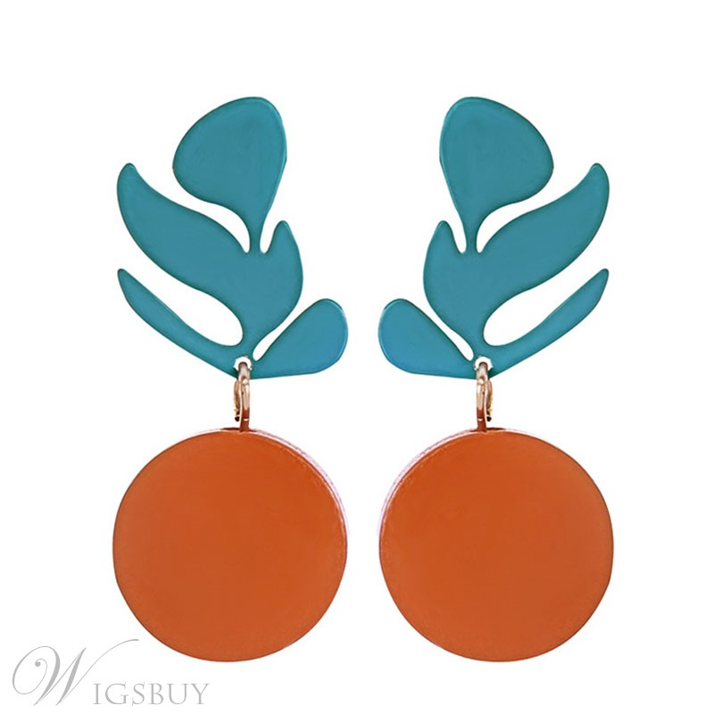 Round Plant Earrings