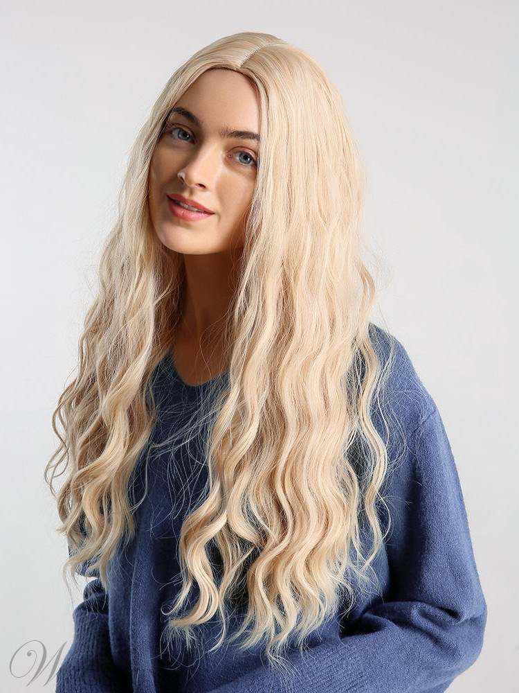 Breathable and Durable 613 Color Long Synthetic Capless Curl Wig 24inch