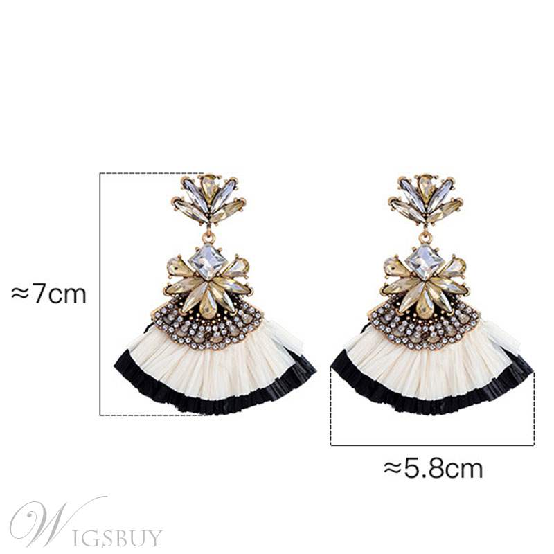 The Fan Fringe Tassels Earrings