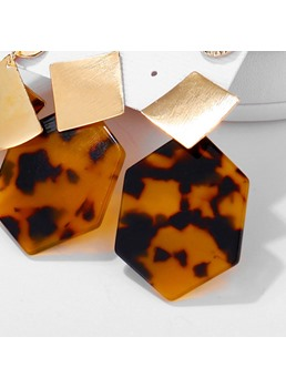 Amber Resin Earrings Set