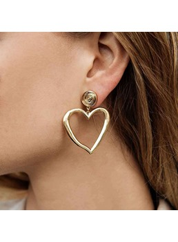 Alloy Heart Cut Earrings