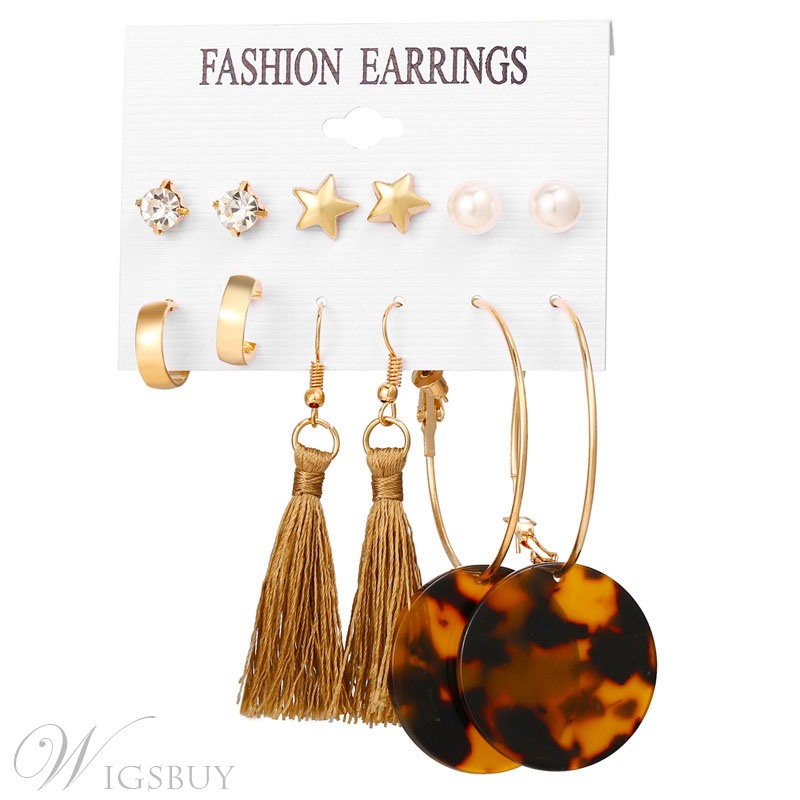 Amber Resin Earrings