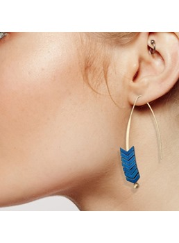 Retro Arrow Colourful Tassel Ethnic Style Earrings