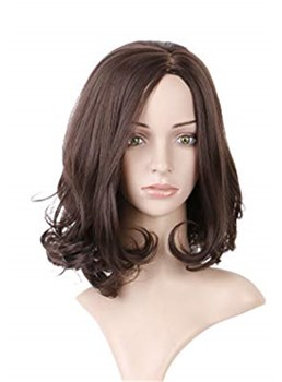 Long Bob Wavy Synthetic Hair Lace Front Wig 16 Inches