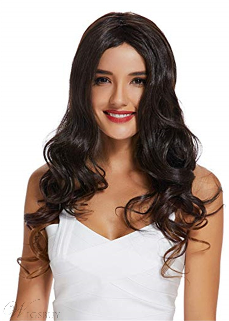 Long Wavy Synthetic Hair Lace Front Wig 20 Inches