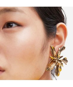 Flower Alloy Stud Earrings