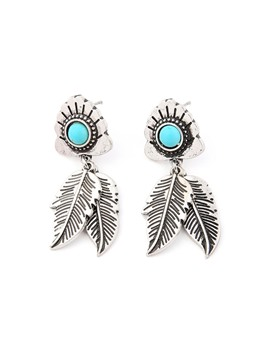 Leaf Turquoise Earrings