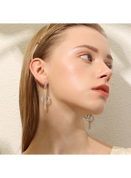 Ring Alloy Earrings