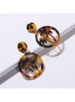 Tortie Round Earrings