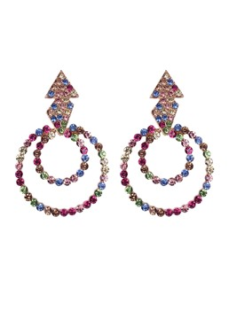 Hoop Dimante Earrings