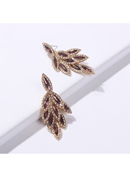 Leaf Gems Earrings