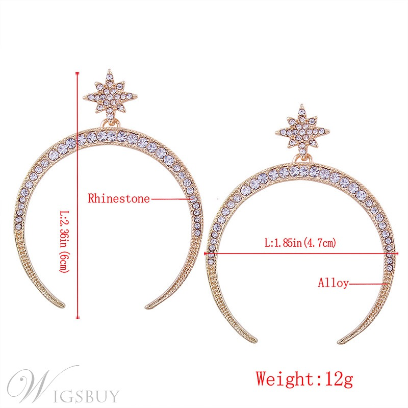 Star&Moon Hoop Earrings